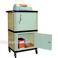 "H. Wilson WT50P  Tuffy Dual Cabinet Storage Cart - 24 x 42 x 18"" (Putty)"