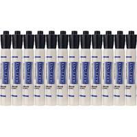 Da-Lite Dry Erase Markers (Black, 12 Markers)