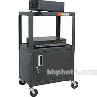 """Hamilton Buhl A/V Cart, Adjustable Height 26 to 42"""" with Cabinet - Steel"""