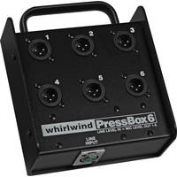 Whirlwind PB06 - 1 Line In to 6 Mic Out Passive Press Box