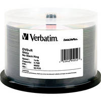 Verbatim DVD+R 4.7GB, 8x, DataLifePlus Shiny Silver Disc (Spindle Pack of 50)