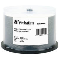 Verbatim CD-R White Inkjet Printable Disc (50)