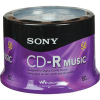 Sony CD-R Music Recordable Compact Disc (Spindle Pack of 50)