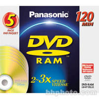 Panasonic LMAF120LU5 DVD-RAM Disc (Pack of 5)