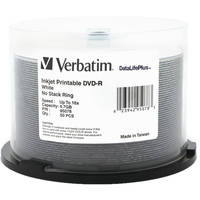 Verbatim DVD-R 4.76GB 16X Printable DataLifePlus (50)