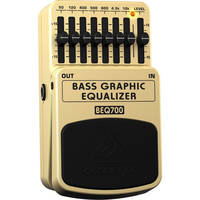 Behringer BEQ700 - 7-Band Graphic Equalizer Foot Pedal for Electric Bass Guitar
