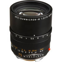 Leica 75mm f/2.0 APO Summicron M Aspherical Lens (6-Bit)