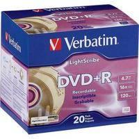 Verbatim LightScribe DVD+R Recordable Disc in Slim Case (Pack of 20)