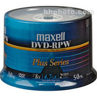 Maxell DVD-R Inkjet Printable White Recordable Disc (Spindle Pack of 50)