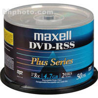 Maxell DVD-R Shiny Silver, Thermal Printable (Spindle Pack of 50)