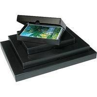 "Print File Clamshell Metal Edge Boxes - 13 x 19"" - Black"