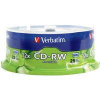 Verbatim CD-RW 700MB Rewritable Disc (25)