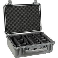 Pelican 1554 Waterproof 1550 Case with Dividers (Silver)