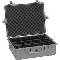 Pelican 1604 Waterproof 1600 Case with Dividers (Silver)