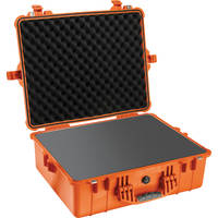 Pelican 1600 Case with Foam (Orange)
