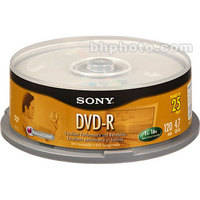 Sony 4.7 GB DVD-R (25 Discs)