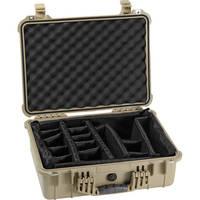 Pelican 1524 Waterproof 1520 Case with Padded Dividers (Desert Tan)