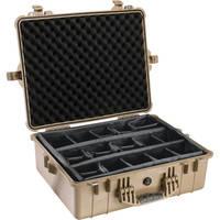 Pelican 1604 Waterproof 1600 Case with Dividers (Desert Tan)