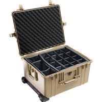 Pelican 1624 Waterproof 1620 Case with Dividers (Desert Tan)