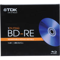 TDK BD-RE-25A Blu-ray Recordable Disc