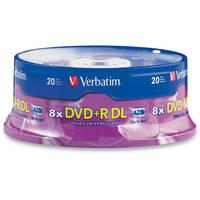 Verbatim DVD+R DL 8.5GB, 2.4x Disc (20)