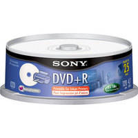 Sony 4.7GB DVD+R 16x Recordable Disc (Spindle Pack of 25)
