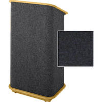 Sound-Craft Systems Floor Lectern (Onyx/Natural Oak)