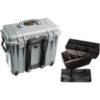 Pelican 1444 Top Loader 1440 Case with Utility Divider (Silver)