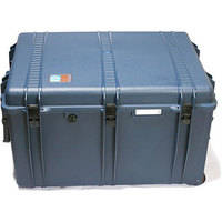 Porta Brace PB-2850F Wheeled Hard Case with Foam Interior (Blue)
