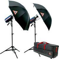 Photoflex StarFlash 650W/s Dual Umbrella Kit with Case