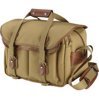 Billingham 335 Shoulder Bag (Khaki with Tan Leather Trim)
