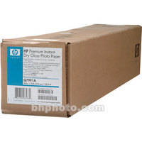 """HP Premium Instant-dry Gloss Photo Paper - 24"""" Wide Roll - 75' Long"""