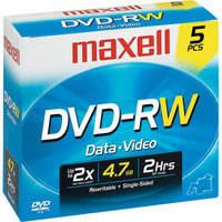 Maxell DVD-RW 4.7GB DVD Disc (5)