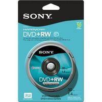 Sony 10DPW30RS2H 8cm DVD+RW Recordable Disc (Spindle Pack of 10)