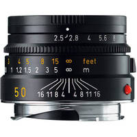 Leica 50mm f/2.5 Summarit-M Manual Focus Lens (Black)
