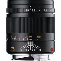 Leica 75mm f/2.5 Summarit-M Manual Focus Lens (Black)