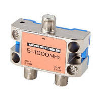 Monster Cable Standard 2 Way RF Splitter For CATV Signals MKII