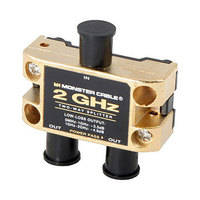 Monster Cable 2 Way -  2GHz Low-Loss RF Splitter for TV & Satellite MKII