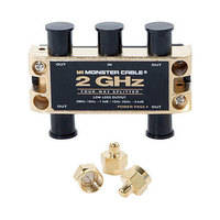 Monster Cable 4 Way -  2GHz Low-Loss RF Splitter for TV & Satellite MKII