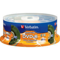 Verbatim DVD-R Color LightScribe Printable Recordable Disc (Spindle Pack of 25)