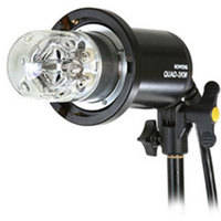 Bowens Quad 3KM Mini Flash  Head with Frosted Dome