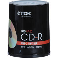 TDK CD-R Inscriptible Compact Discs (Spindle Pack of 100)