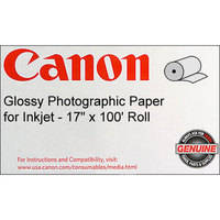 "Canon Glossy Photographic Paper 17.0"" x 100' Roll (240 GSM)"