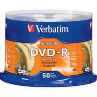 Verbatim DVD-R LightScribe Printable Recordable Disc (Spindle Pack of 50)