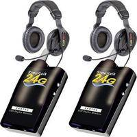 Eartec 2 Simultalk 24G Beltpacks with ProLine Double Headsets