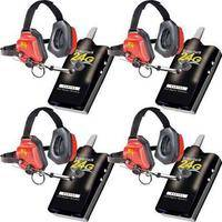 Eartec 4 Simultalk 24G Beltpacks with XTreme Headsets