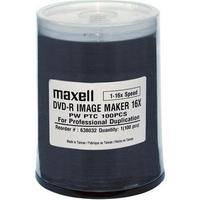 Maxell DVD-R Image Maker Inkjet Printable Recordable Disc (Spindle Pack of 100)
