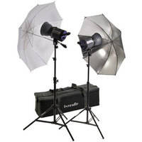 Interfit Stellar X 300 Flash Two Monolight Umbrella Kit (120VAC)