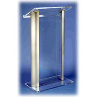 AmpliVox Sound Systems SN3080 Contemporary Acrylic and Aluminum Pulpit Lectern