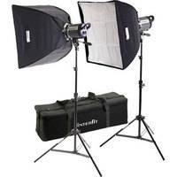 Interfit Stellar XD 300 Flash Two Monolight Twin Softbox Kit (120VAC)
